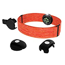POLAR Unisex's OH1 N ORA Waterproof Optical Heart Rate Sensor with Swimming Goggle Strap Clip and Armband - HR Monitor with Bluetooth, ANT+, Orange, One Size