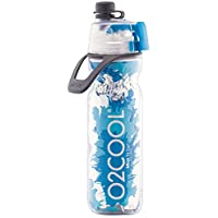 O2COOL ArcticSqueeze Insulated Mist 'N Sip Squeeze Bottle 20 oz., Blue/Blue Splash