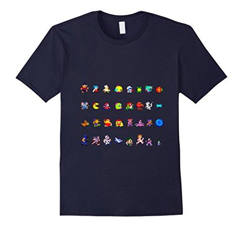 mens-video-arcade-game-retro-characters-t-shirt-machine-pinball-medium-navy