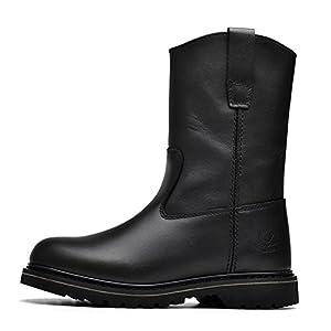 Hombres Zapatos Vestido Escalar Montañas Otoño Aire Libre Fondo Blando Botas Resbalón Encendido Negro-marrón-negro Longitud del pie=38.5EU