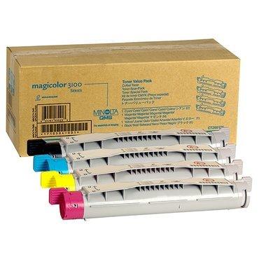 Konica Minolta Magicolor 3100 (9960A1710504001) - original - Toner MultiPack (schwarz, cyan, magenta, gelb) - 6.000 Seiten -