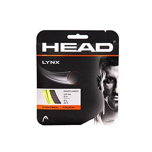 Head Lynx Cordage pour raquette de tennis Jaune 12 m