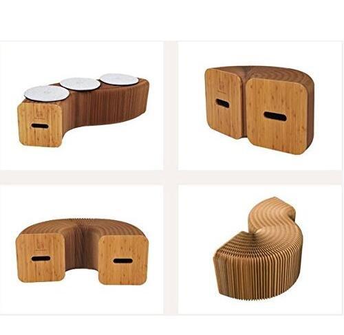 Chaise et canapé en papier kraft, pliable, extensible, design en accordéon
