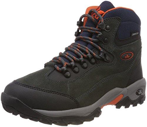 Lico Milan, Zapatos de High Rise Senderismo para Hombre, Negro Anthrazit/Orange, 43 EU