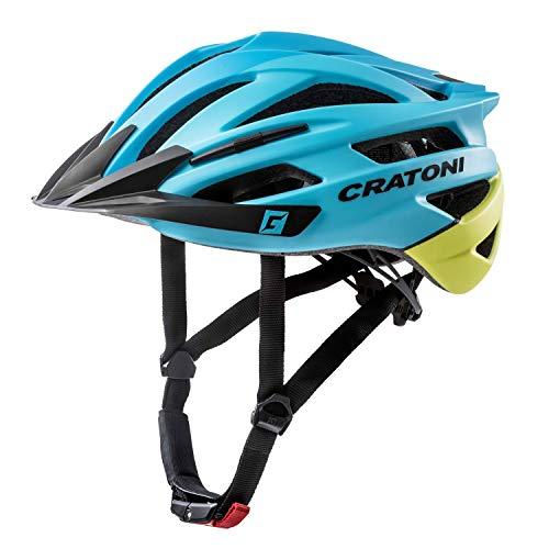 Cratoni Mountainbike Helm Agravic, Blue-Yellow Matt, Gr. S/M (54-58 cm)