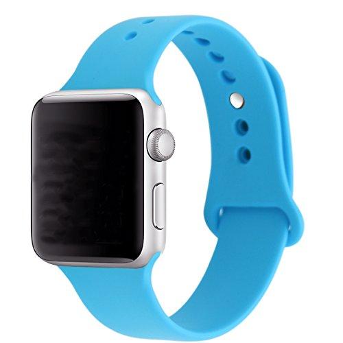 XIHAMA Armband für Apple Watch S4 38 mm 42 mm, bequemes weiches Silikon Ersatzband Sport Fitness Armband für iWatch Serie 3/2/1