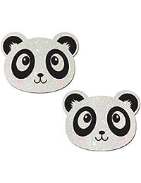 Pastease Mujer Oso De Panda De Kawaii En Los Blancos Del Brillo Pasties