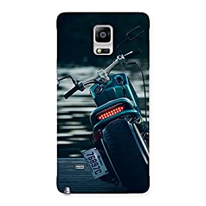 Cute Cruise Bike Multicolor Back Case Cover for Galaxy Note 4