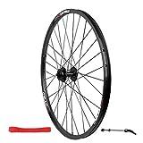 MZPWJD Ruota Anteriore Bici da 26 Pollici Cerchione per Bicicletta in Lega A Doppia Parete MTB Rilascio Rapido Freno A Disco 951g 32 Buche (Color : Black)