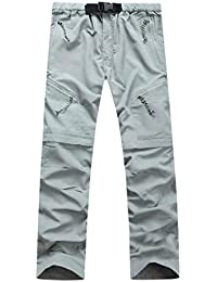 WWricotta Herren Chino Hose Stoffhose Schnelltrocknend Draussen Dünne  Abnehmbare EIN Paar Shorts per Reißverschluss Wasserdichte… d828388aa8