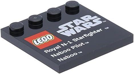 Lego Lego Lego 10 x Tile, Modified 4 x 4   Studs on Edge   Star Wars Black B01N7020YC e4c729