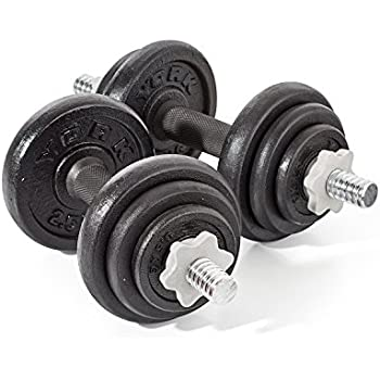 60e5aec1f43 York Fitness 20 kg Cast Iron Spinlock Dumbbell - Adjustable Hand Weights Set  (Pack of