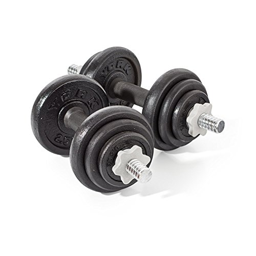 york-fitness-cast-iron-dumbbell-set-20kg