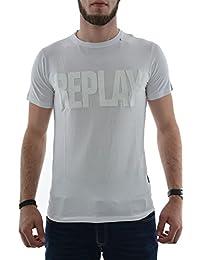 tee shirt replay m3037 blanc
