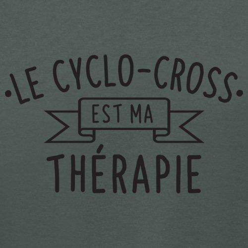 Le cyclo-cross est ma thérapie - Femme T-Shirt - 14 couleur Gris Foncé