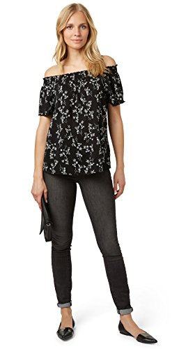 Tom Tailor Contemporary für Frauen Shirt / Blouse gemusterte Carmen-Bluse Black