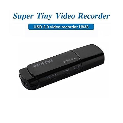 Mengshen Full HD 1080p USB Stick Covert Spycam Mini DVR caméra cachée Surviellant enregistreur vidéo avec détection de mouvement de soutien IR Night Vision MS-U838