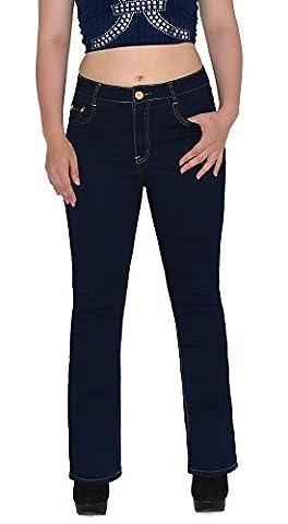 by-tex Damen Jeans Bootcut Damen Jeanshose Boot-Cut bis Übergröße Übergrösse Gr. 44, 46, 48, 50,