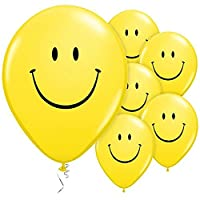 White Hinge 36x Large Yellow Smiley Face Latex Balloons Get Well Soon Birthday Party Decoration 22.5cm