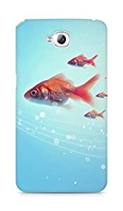 Amez designer printed 3d premium high quality back case cover for Lg Gpro Lite (Pure Simple Underwater Goldfish Swimming)