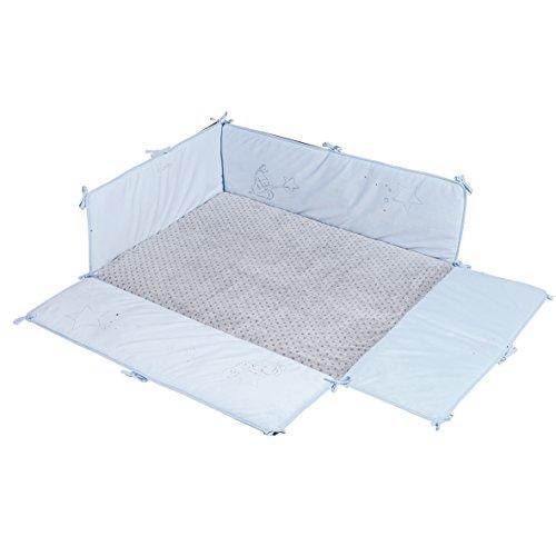 Noukie 's alfombra de parque azul/gris diseño de polvo de Mary Jose Bautista V Etoiles 75x 95cm