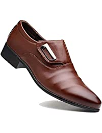 Qianliuk Formale Schuhe Männer Pu Leder Spitz Business Büro Kleid Schuhe  Slip On Man Oxfords Schuhe 70c73e9db2
