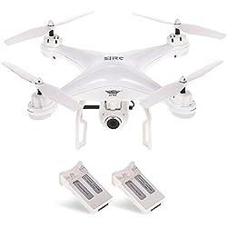 Goolsky SJ R / C S20W1080P (GPS) FPV Cámara HD 1080P ajustable Gran angular RTF Posicionamiento GPS doble Altitud Hold Drone w / Dos Baterías