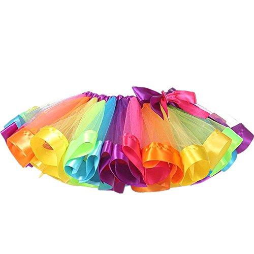Mädchen Tutu, Canvalite Regenbogen Ballet Prinzessin Tüllrock Cosplay Kostüm für Tanz Party Karneval
