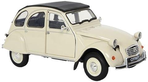 Modellauto Citroen 2CV, mit Rückzugautomatik sowie beweglicher Motorhaube und Seitentüren, ein schönes Sammlerstück für Jung und