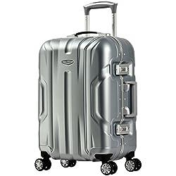 Eminent Bagage Cabine Gold X-Dream 54cm 39L Cadre en Aluminium 4 Roues silencieuses Doubles Serrure TSA Argent