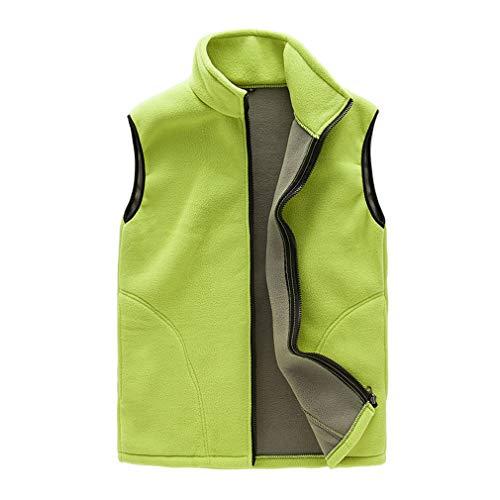 Juleya 9 Couleurs Hommes Femmes Polaire Gilet avec Zipper Automne Hiver Gilet sans Manches Veste Solide Couleur Thermique sous-Vêtements Casual Veste Survêtement M-XXXL