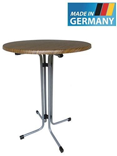 MFG Stehtisch klappbar, Made IN Germany, 80 cm Durchmesser, Höhe 110 cm, Graphit farbenes Gestell,...