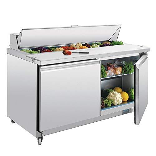 Polar 2porta preparazione Counter 527litri in acciaio INOX commerciali frigo
