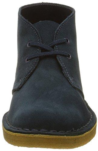 Clarks Desert, Boots garçon Bleu (Midnight Suede)
