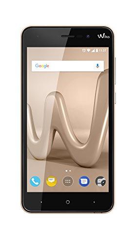 Wiko Lenny4 - Smartphone de 5' HD (Dual SIM, 2 GB de RAM, 16 GB de Memoria Interna, cámaras de 8 y 5 MP con Flash LED, Android 7.0 Nougat, Acabado Metalizado) Oro