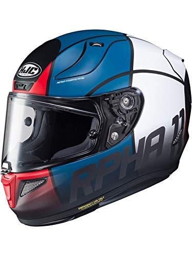 Casco Moto Hjc Rpha 11 Quintain Rosso-Bianco-Blu (L, Blu)