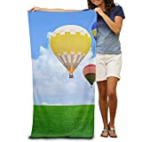 DEFFWBb Super Absorbent Beach Towel Hot Air Balloons and Helicopter Polyester Velvet Beach Towels 31