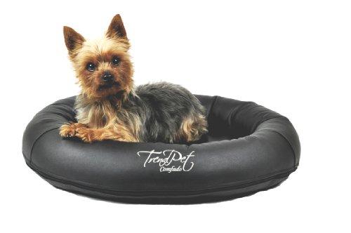 Artikelbild: TrendPet 'Comfado' 60x50cm Black, Luxus Hundebett aus Soft-Kunstleder 'Das Hundebett'