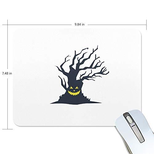 d Halloween gruseliger Baum Computer Tastatur Mauspad, wasserabweisend, rutschfeste Unterseite, ideal für Gaming und Arbeiten ()