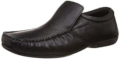 Red Tape Men's Slip On Black Leather Formal Shoes - 11 UK/India (45 EU)