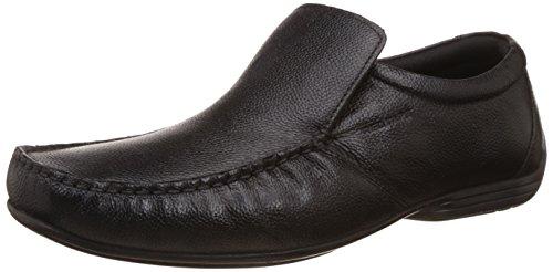 Red Tape Men's Slip On Black Leather Formal Shoes