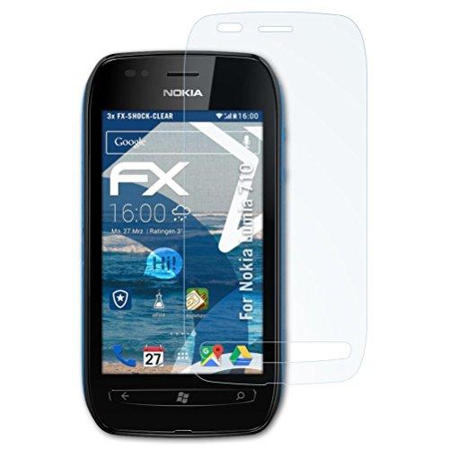 kompatibel mit Nokia Lumia 710 Panzerfolie, ultraklare und stoßdämpfende FX Folie (3X) ()