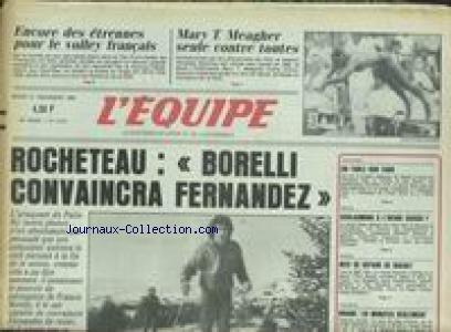 EQUIPE (L') [No 12331] du 31/12/1985 - LE VOLLEY FRANCAIS - MARY T. MEAGHER - ROCHETEAU - BORELLI CONVAINCRA FERNANDEZ.