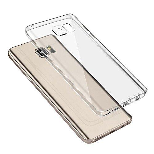 Cuitan Claro Suave TPU Funda Carcasa Trasera para Samsung Galaxy Note 5, Anti-rasguños Resistencia a la Caída Protectora Cubierta Back Case Cover Shell para Samsung Note 5 - Blanco (Transparente)