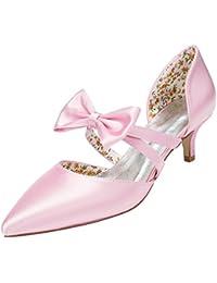 Amazon.it  fiocco rosa - Scarpe col tacco   Scarpe da donna  Scarpe ... 6d566a1d5ec