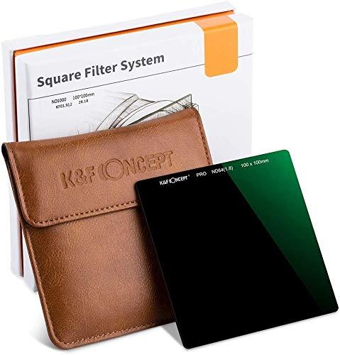 K&F Concept Rechteckfilter Optisches Glas ND Filter Square Quadratische Filter ND64 Graufilter 100x100mm