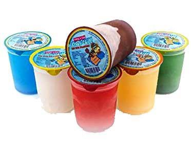 Preisvergleich Produktbild 40x Kratzeis Mix CRAZY CHILL schlecken Eis Drink Becher z.B. Cola, Kirsch, Zitrone, Waldmeister und Orange a 200ml