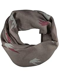 Pink Pastel Swallow Print Wide Scarf