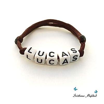 Bracelet LUCAS personnalisé avec prénom (réversible, personnalisable) homme, femme, enfant, bébé, nouveau-né.