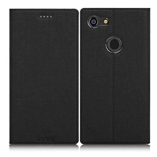 Eastcoo Google Pixel 3 XL Hülle, Flip Folio Wallet Leder Smart Case Tasche Schutzhülle Handyhülle mit[Kartenfach][Standfunktion][Magnetic Closure] für Google Pixel 3 XL Smartphone (Black)
